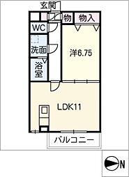 僚蘭舎[1階]の間取り