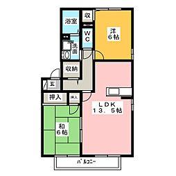 セレーネ桜井[2階]の間取り