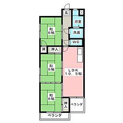 第3丸柴ビル[2階]の間取り