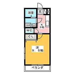 プリムローズC[1階]の間取り