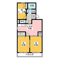 メゾンイール[2階]の間取り