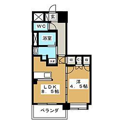 ディークレスト太子堂駅前East[9階]の間取り