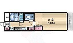 京阪本線 中書島駅 徒歩27分の賃貸マンション 3階1Kの間取り