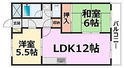 橋本第3マンション[302号室号室]の間取り