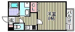 (仮称)泉大津市我孫子学生マン[206号室]の間取り