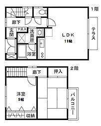 [テラスハウス] 神奈川県川崎市宮前区神木本町5丁目 の賃貸【/】の間取り