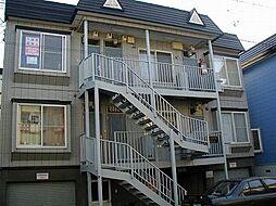北海道札幌市豊平区平岸四条8丁目の賃貸アパートの外観