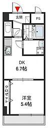 Social Village(ソシアル ビレッジ)[4階]の間取り