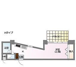郡慶マンション6[3階]の間取り