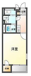 兵庫県三木市志染町中自由が丘3丁目の賃貸アパートの間取り