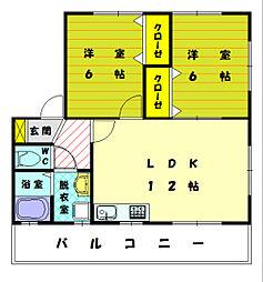 コンフレール弐番館[2階]の間取り