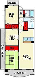 ハイツ高松II[203号室]の間取り