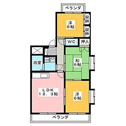 ベアーフルート[2階]の間取り