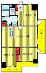 JR京浜東北・根岸線 東十条駅 徒歩2分の賃貸マンション 9階3LDKの間取り