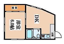 金岡マンション[3階号室]の間取り