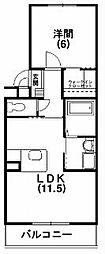 ライラックガーデン[2階]の間取り