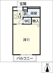 DIAS TACT[2階]の間取り