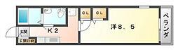 ソレイユ・道[2階]の間取り