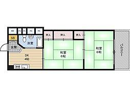 新大阪第2ダイヤモンドマンション[4階]の間取り
