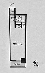 コモド横浜サウス[512号室]の間取り