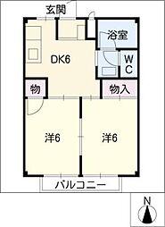 メゾンサンプチ[1階]の間取り