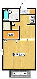サンセールSATSUKIII[101号室]の間取り