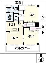 エタニティープレステージ[1階]の間取り