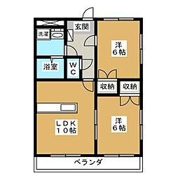 パーチェ青江[2階]の間取り
