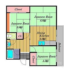 大阪府堺市南区桃山台1丁の賃貸マンションの間取り