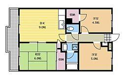 コーラルプラザー[3階]の間取り