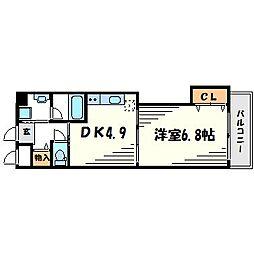 アミティ武庫之荘[2階]の間取り