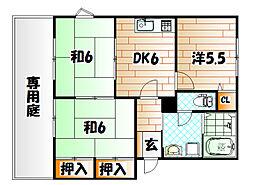 エスポワールホリ I棟[2階]の間取り