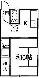 飯田コーポ[21号室]の間取り