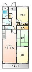 メゾンファミイユ[3階]の間取り