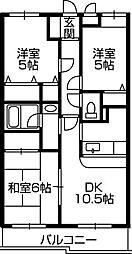 神奈川県川崎市麻生区千代ケ丘2丁目の賃貸マンションの間取り