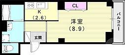 (仮)神戸市長田区二葉町マンション 3階1Kの間取り