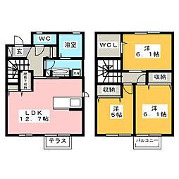 華B[2階]の間取り