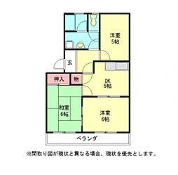 愛知県一宮市開明字中屋敷の賃貸マンションの間取り