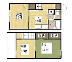 コーポ松岡 B棟[1階]の間取り