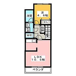 (仮)毛受字正寺新築AP[2階]の間取り