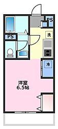 埼玉県鶴ヶ島市大字上広谷の賃貸アパートの間取り
