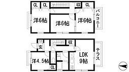 [テラスハウス] 大阪府箕面市新稲6丁目 の賃貸【/】の間取り