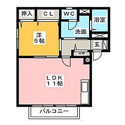 ルノワール[2階]の間取り