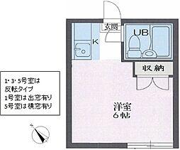 リイチ氷川台II[0201号室]の間取り