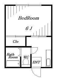 コーポフジ[2階]の間取り