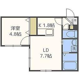 コンフォート栄通[1階]の間取り