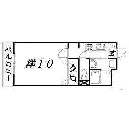 静岡県浜松市中区海老塚1丁目の賃貸マンションの間取り
