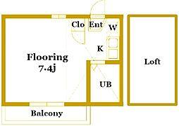 コートウィングス西館[2階]の間取り