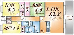 摩耶コート壱番館[5階]の間取り