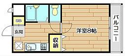 大阪府高槻市本町の賃貸マンションの間取り